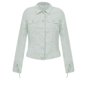 Sandwich Clothing Linen Ruffle Sleeve Jacket