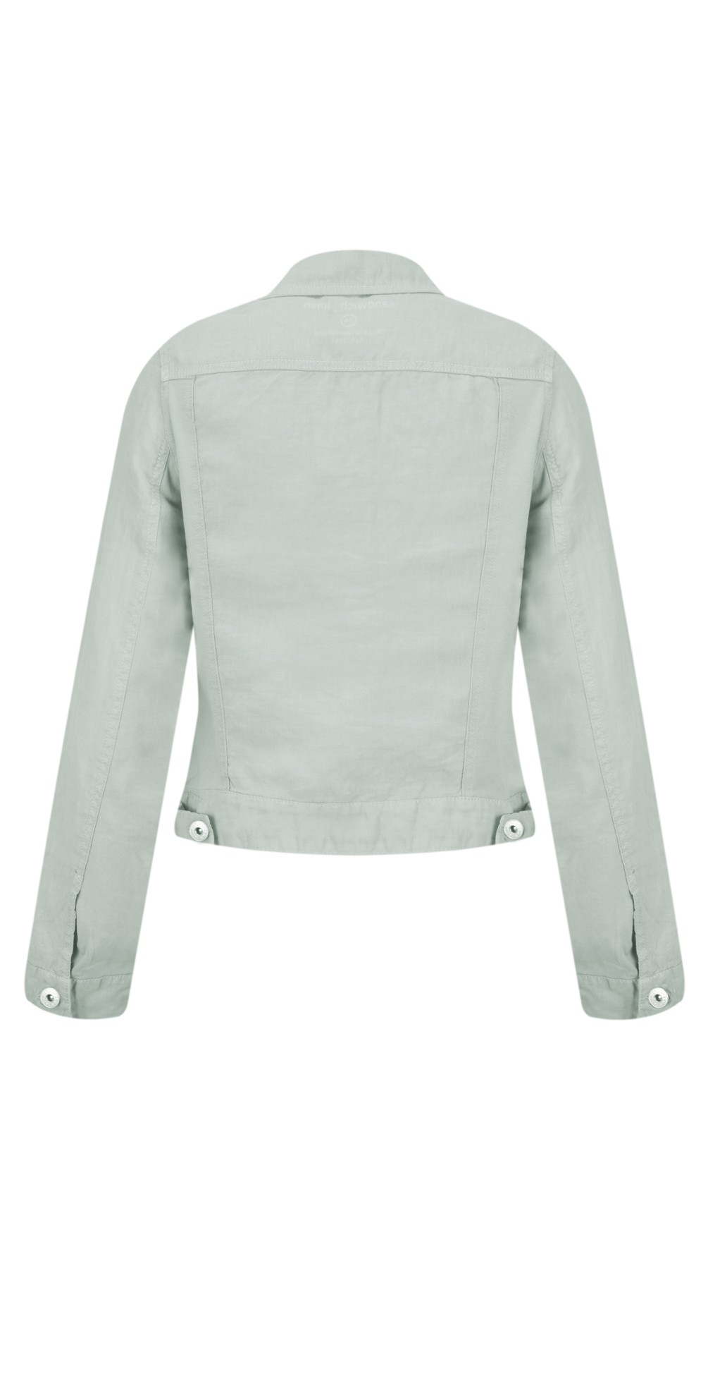 Linen Ruffle Sleeve Jacket main image