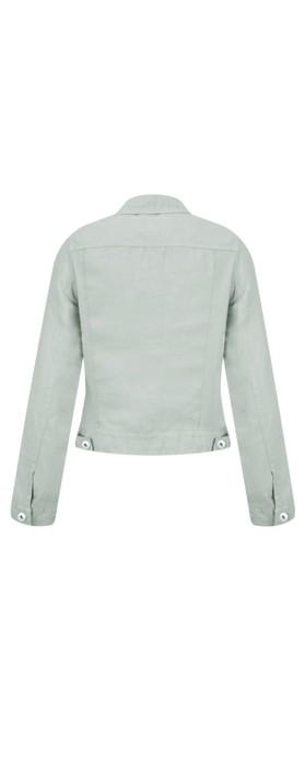 Sandwich Clothing Linen Ruffle Sleeve Jacket Pearl Grey