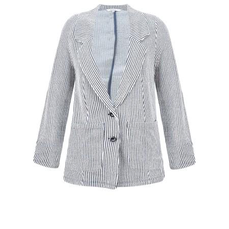 Sandwich Clothing Seersucker Stripe Jacket - Blue
