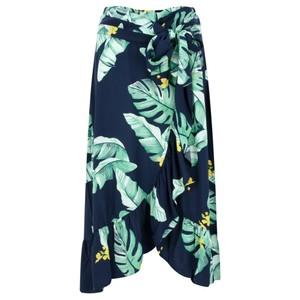 Sandwich Clothing Palm Leaf Print Wrap Skirt
