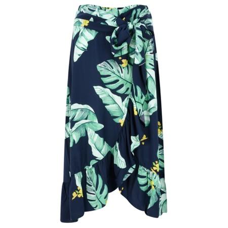 Sandwich Clothing Palm Leaf Print Wrap Skirt - Blue