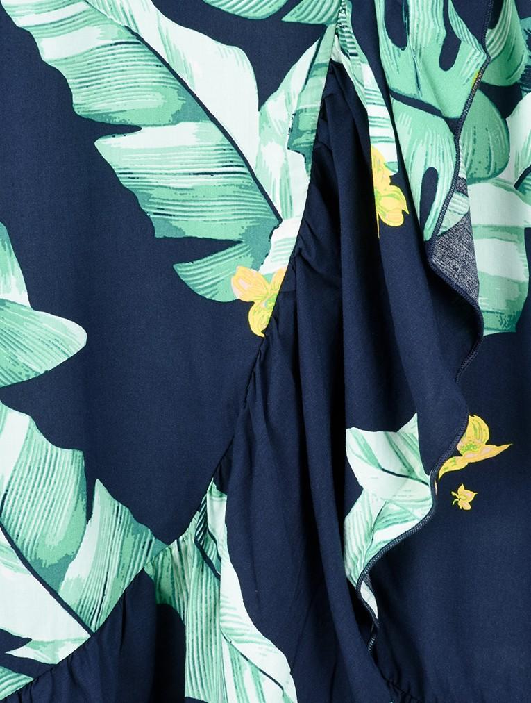 Palm Leaf Print Wrap Skirt main image