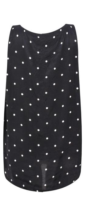Masai Clothing Polka Dot Eda Top Black Org