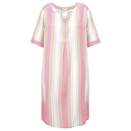 Masai Clothing Gina Stripe Tunic Dress - Pink