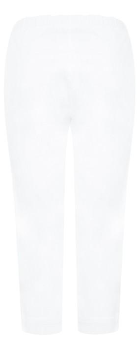 Masai Clothing Peach Capri Pull On Trouser White