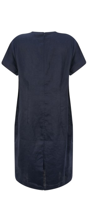 Masai Clothing Nabla Linen Dress  Navy
