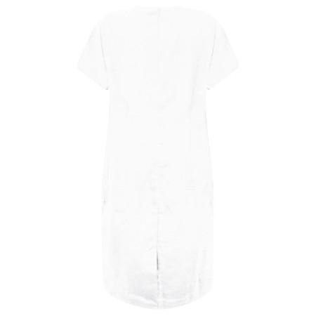 Masai Clothing Nabla Linen Dress  - White