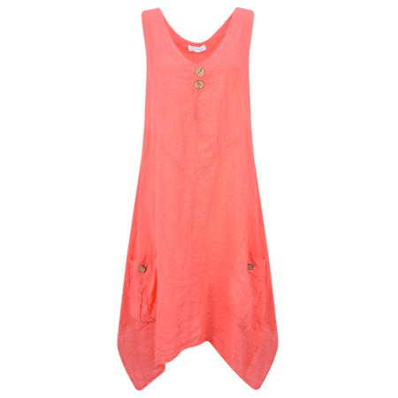 TOC  Didi Easyfit Linen Dress - Orange