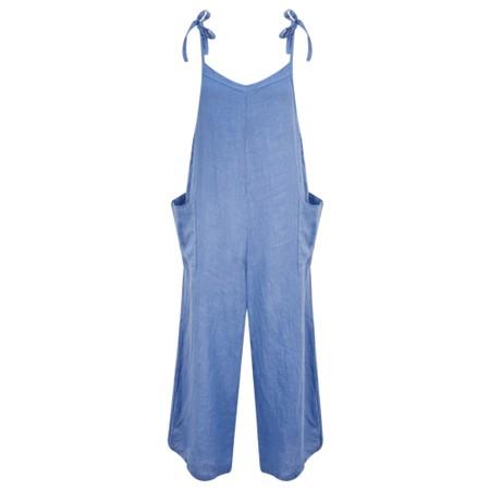 TOC  Danica Linen Jumpsuit - Blue