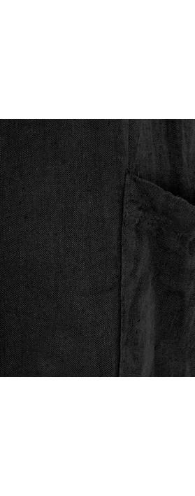 TOC Danica Linen Dungaree Jumpsuit Black