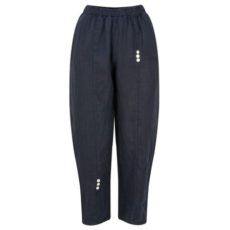 TOC  Pia 7/8 Easyfit Linen Trousers - Blue