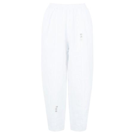 TOC  Pia 7/8 Easyfit Linen Trousers - White