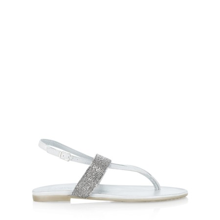 INUOVO Grace Flat Sandal - Off-White
