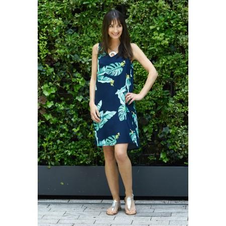 Sandwich Clothing Palm Leaf Print Dress - Blue