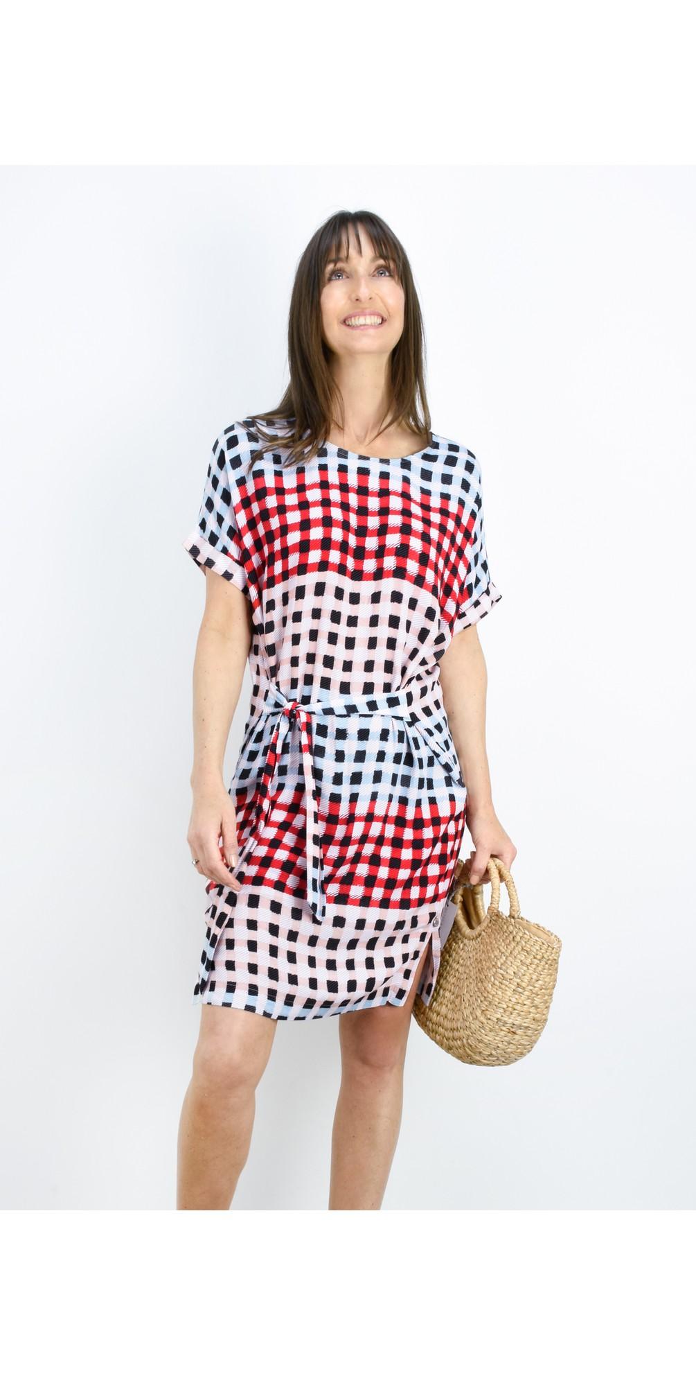 Printed Check Dress main image