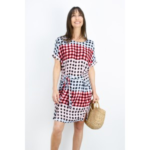 Sandwich Clothing Printed Check Dress