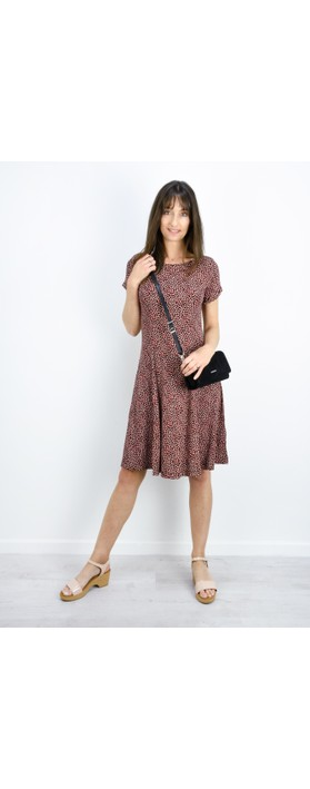 Sandwich Clothing Fit and Flare Dotted Flower Dress Washed Rose