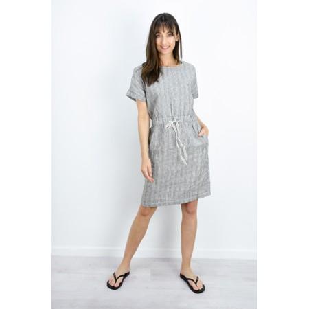 Sandwich Clothing Fine Stripe Linen Dress - Black