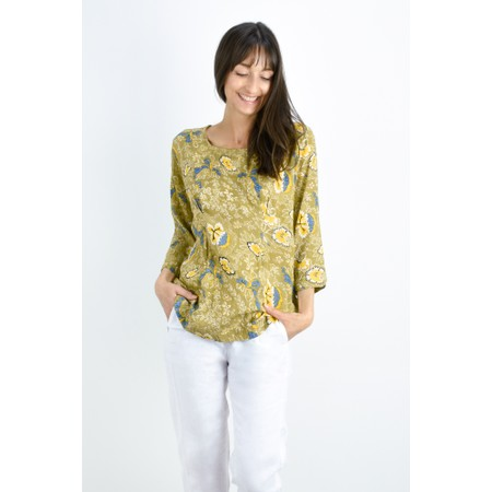 Masai Clothing Dagny Floral Top - Green