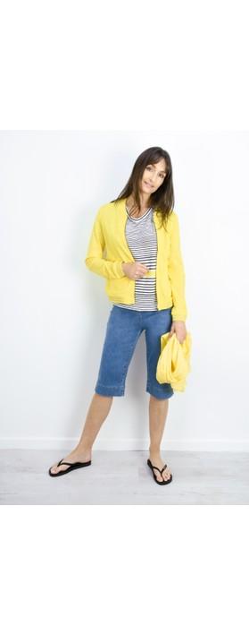 Sandwich Clothing Joy Slogan Cotton Scarf Blazing Yellow