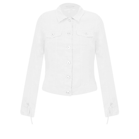 Sandwich Clothing Linen Ruffle Sleeve Jacket - White