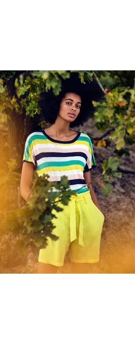 Sandwich Clothing Linen Casual Shorts Blazing Yellow