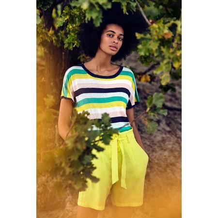 Sandwich Clothing Linen Stripe Print Jumper - Green