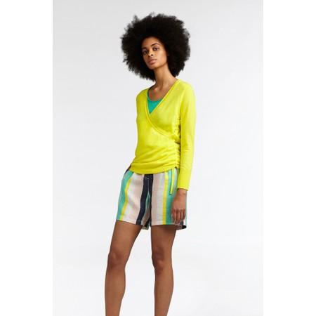 Sandwich Clothing Organic Cotton Wrap Knit Jumper - Yellow