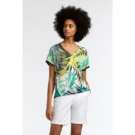Sandwich Clothing Palm Leaf Jungle Print Top - Green