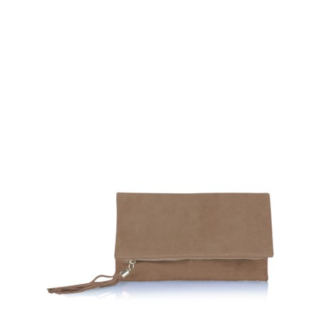 Gemini Label  Silvi Clutch Bag - Brown