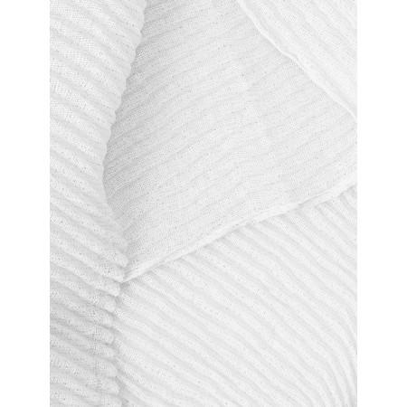 Gemini Label  Aresso Metallic Crinkle Scarf - White