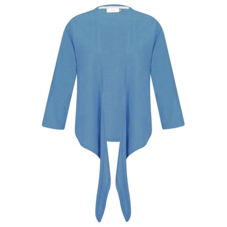 Adini Cotton Slub Sylvia Wrap Top - Blue