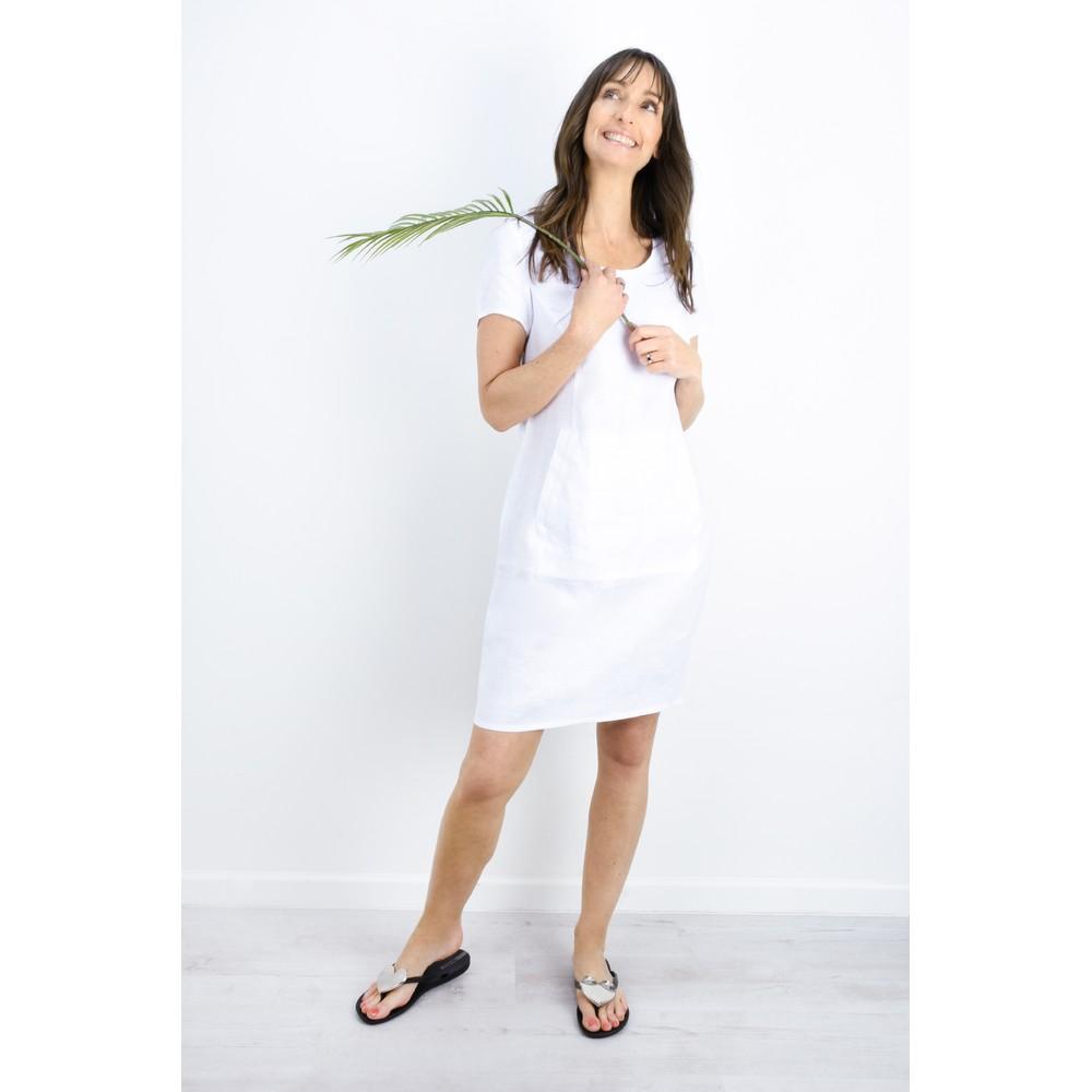Masai Clothing Nabla Linen Dress  White