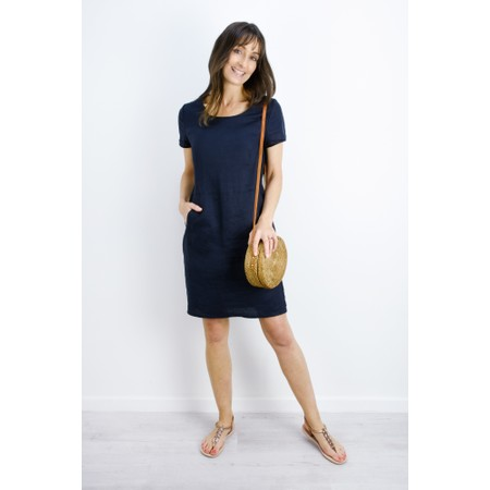Masai Clothing Nabla Linen Dress  - Blue