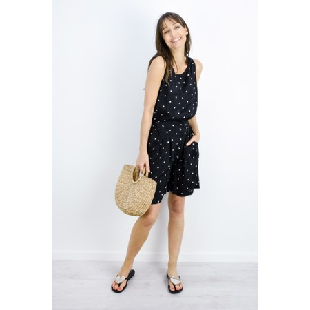 Masai Clothing Polka Dot Eda Top - Black