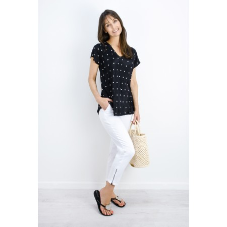 Masai Clothing Kallo Polka Dot Top - Black