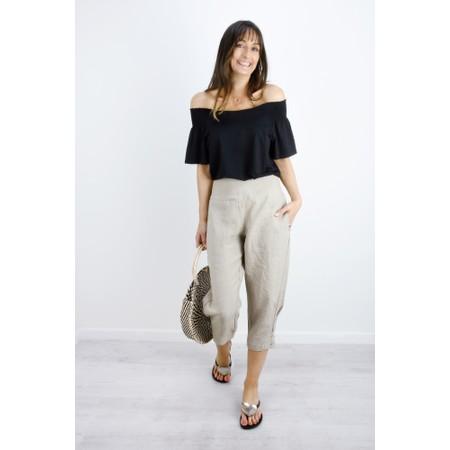 Masai Clothing Pen Linen Culotte - Beige