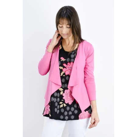 Masai Clothing Itally Basic Waterfall Cardigan - Pink
