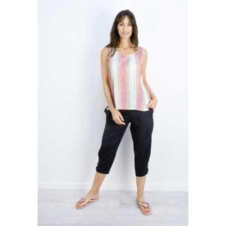 Masai Clothing Striped Eda Top - Pink