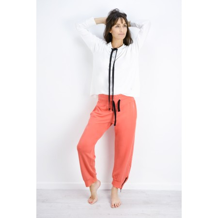 Sundae Tee Cleo Ankle Zip Lounge Trousers - Orange