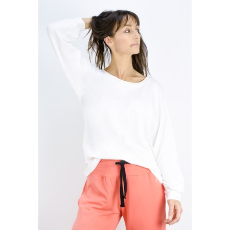 Sundae Tee Mila Long Sleeve Top - Off-White