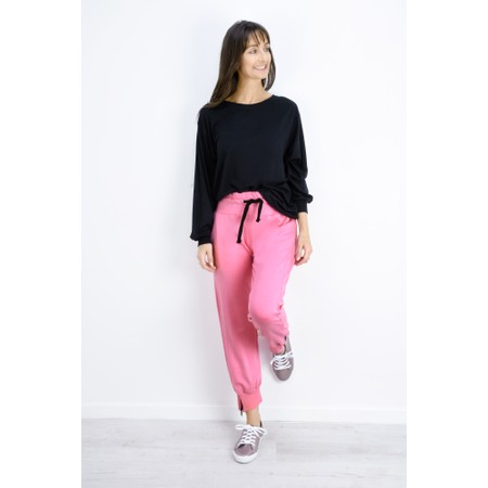 Sundae Tee Cleo Ankle Zip Lounge Trousers - Pink