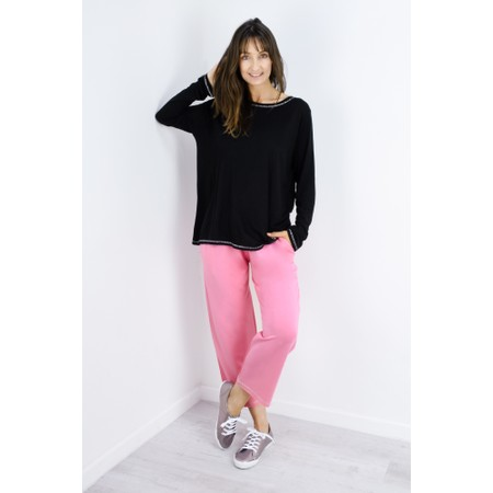 Sundae Tee Tila Long Sleeve Top - Black