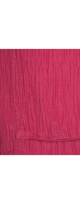 Grizas Jolanta Solid Crinkle Linen Top Berry