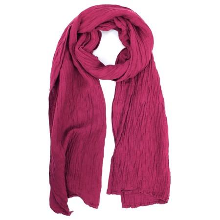 Grizas Katya Crinkle Linen Scarf - Purple