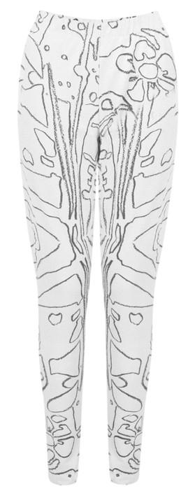 Grizas Elina Printed Jersey Leggings Black/White