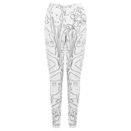 Grizas Elina Printed Jersey Leggings - Beige