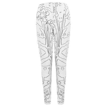 Grizas Elina Printed Jersey Leggings - Beige