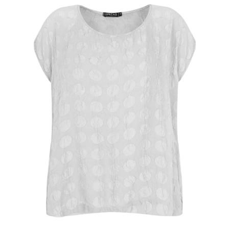 Grizas Tina Silk Spot T-Shirt - Beige
